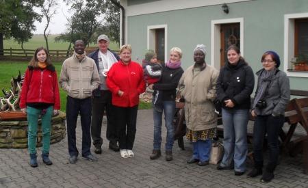 Lors de la visite d'une ferme d'élévage de cerf  en République Tchèque (Octobre 2011)