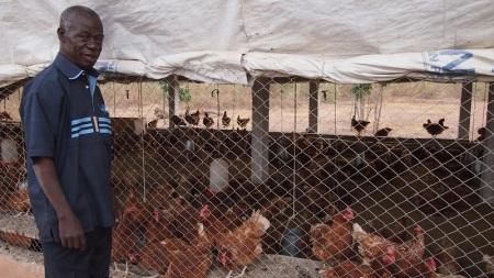 La soixantaine passée, Boureima Sanou veut devenir le « roi des œufs » dans sa localité, la commune rurale de Kouka dans l'ouest du Burkina Faso